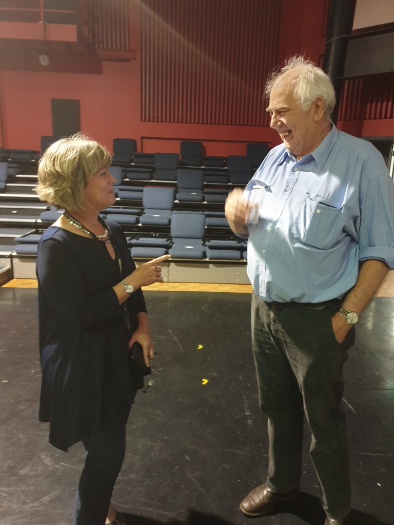 Julie Murkins and Jack Waterford moments before the Literary Lunch